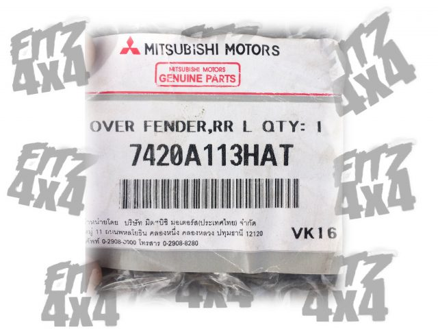 2006-2012 Mitsubishi L200 Rear Left Arch Moulding.